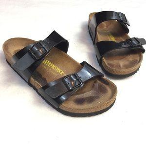 Birkenstock Arizona Patent Black Sandals